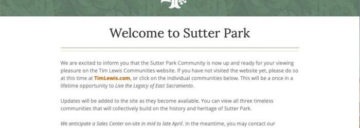 Sutter Park Pre-Approvals